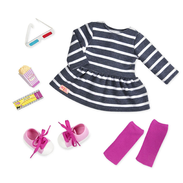 Our Generation, Theatre Threads, Movie Night Outfit for 18-inch Dolls