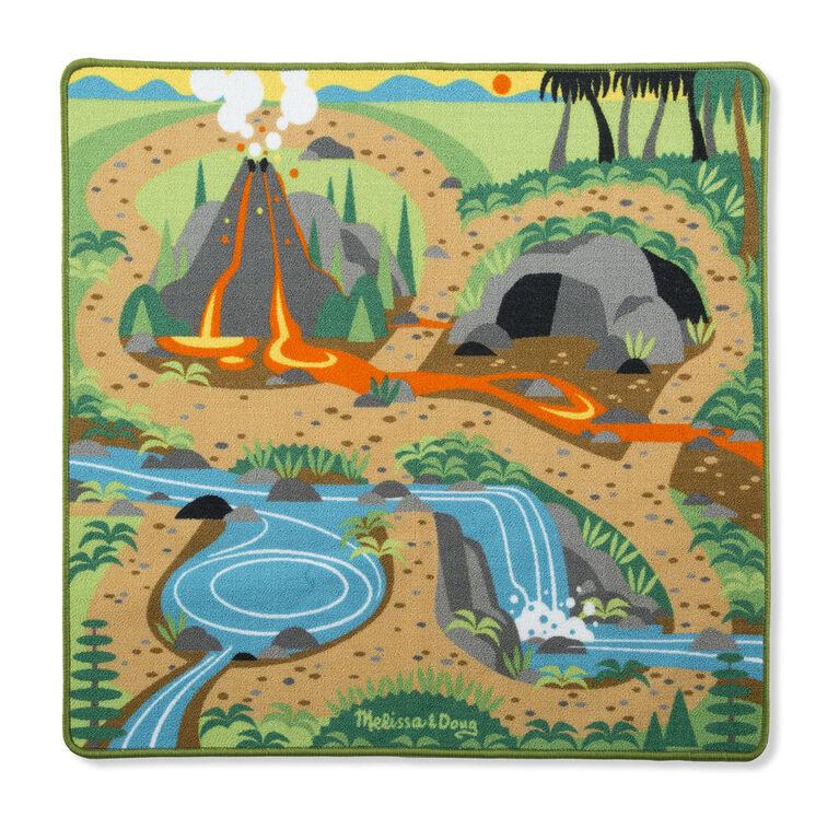 Tapis de dinosaure de terrain de jeu préhistorique