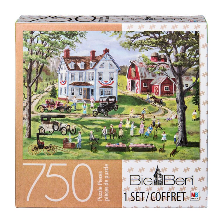 Big Ben - 750-Piece Adult Jigsaw Puzzle - Picnic at the Mill