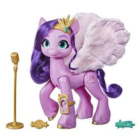 My Little Pony: A New Generation, Star musicale Pipp Petals, poney rose musical de 15 cm pour enfants, dès 5 ans