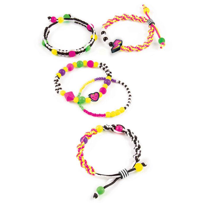 Make It Real - Neon Black And White Bracelet