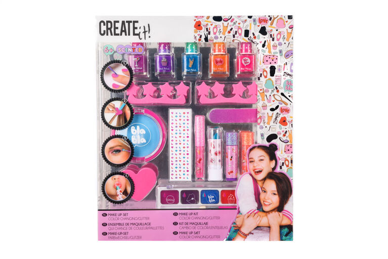 CREATE IT! Makeup Set Color Changing/Glitter Box
