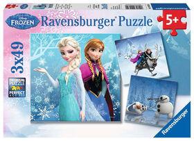Ravensburger - Disney La Reine Des Neiges - Aventures au pays des neiges casse-têtes 3 x 49pc