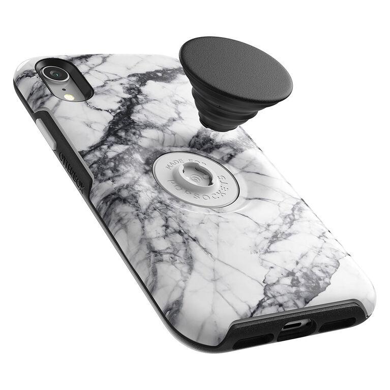Otterbox Otter+Etui Pop Symmetry PopTop Marbre Blanc pour iPhone XR