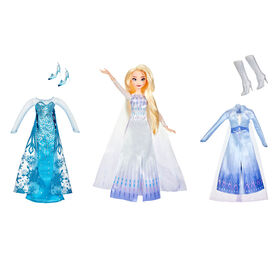 Disney Frozen Elsa's Style Set Fashion Doll With 3 Dresses - R Exclusive