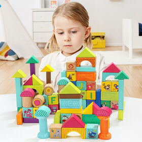 Mima Toys - Animal Squeeze And Wooden Blocks