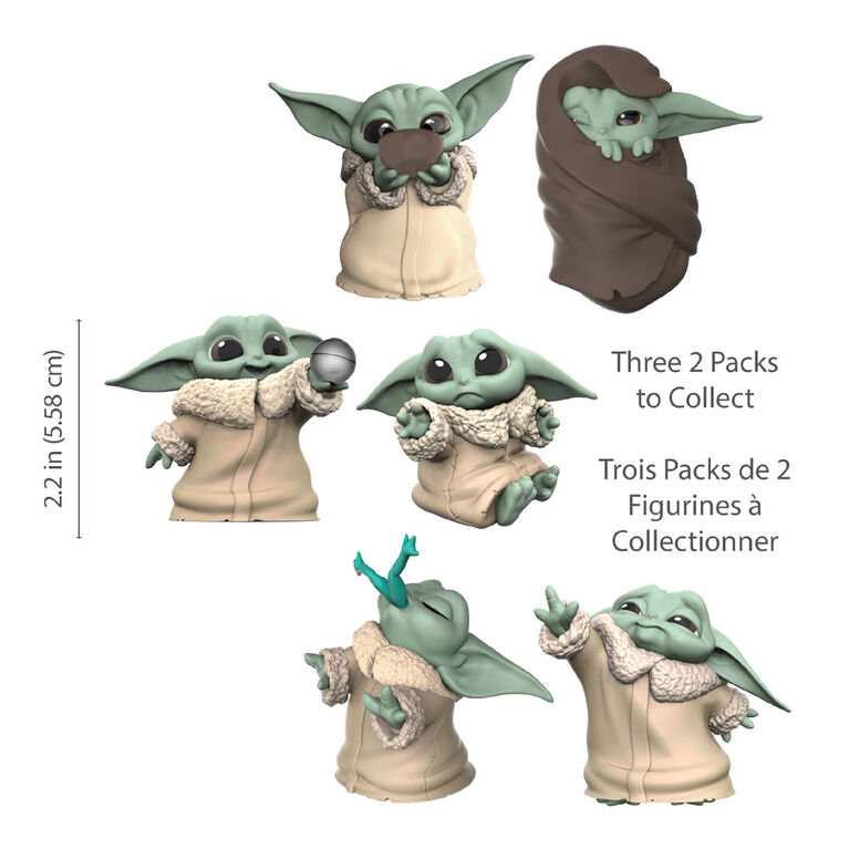 "Star Wars The Bounty Collection The Child de 5,5 cm  "" bébé Yoda "" The Mandalorian, 2 figurines"