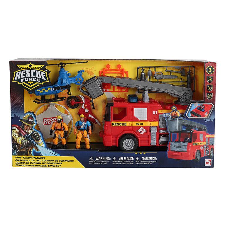 Rescue Force - Coffret Camion de pompier - Notre exclusivité