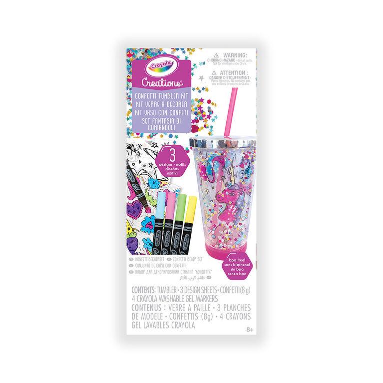 Crayola Creations Confetti Tumbler Kit