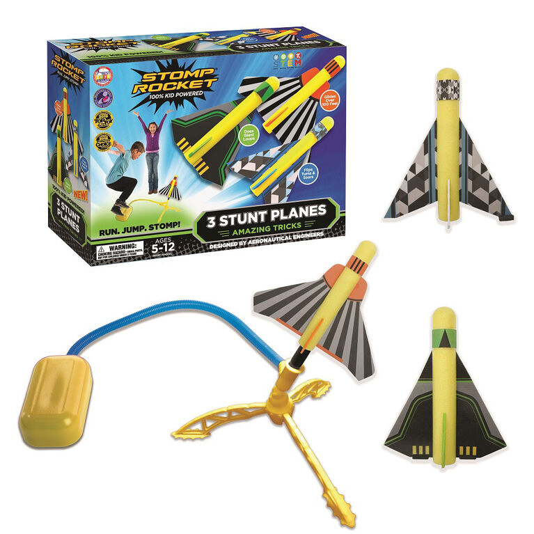 Stomp Rocket with 3 Stunt Planes - English Edition