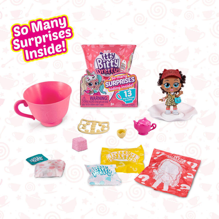 Itty Bitty Prettys Tea Party Little Teacup Doll Assortment (Includes 12 Surprises!) by ZURU