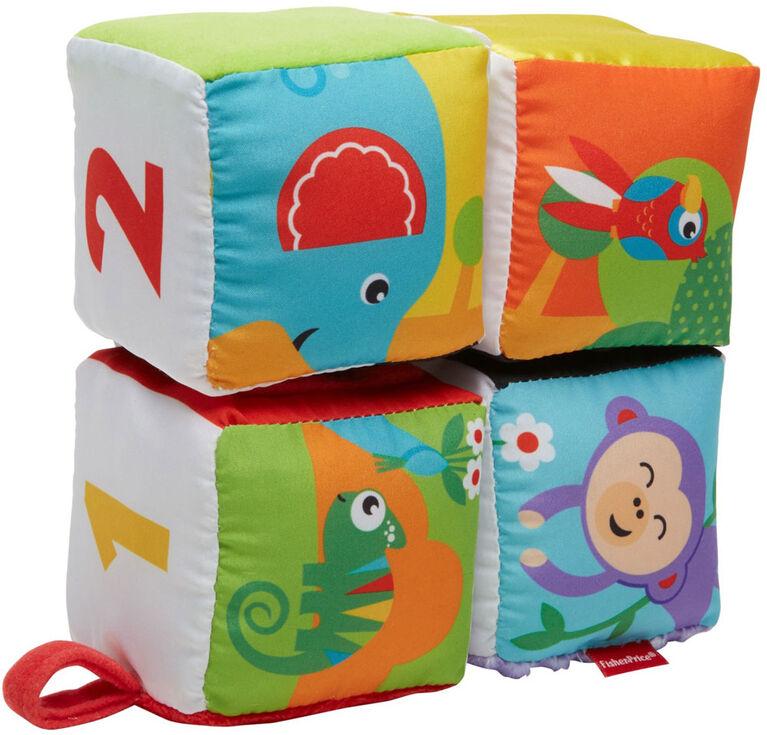 Fisher-Price - Cubes douceur amusants