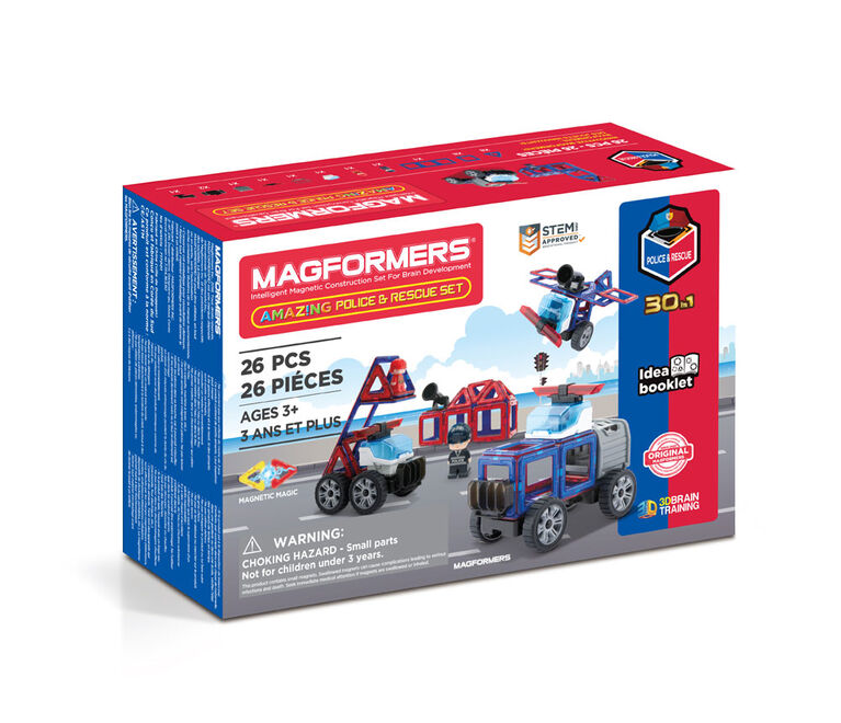 Magformers - Coffret Amazing Police and Rescue de 26 pièces
