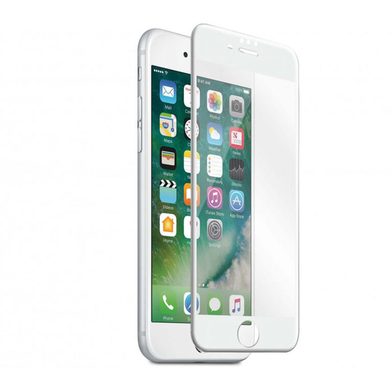 Blu Element 3D Curved Glass for iPhone 8/7/6S/6 White (BTGI8GCW)