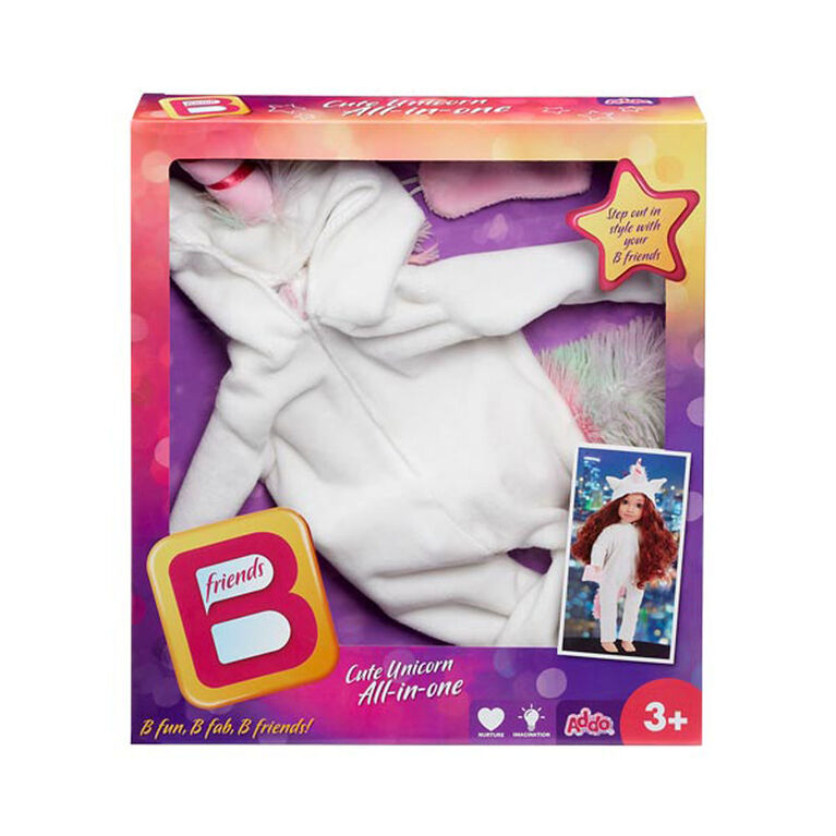B Friends Cute Unicorn All-in-one Deluxe Fashion Outfit for 18-inch Doll