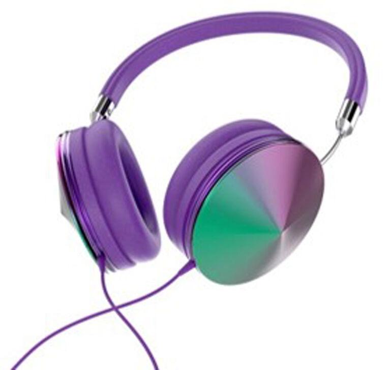 Art+Sound Iridescent Headphones with Mic - Purple