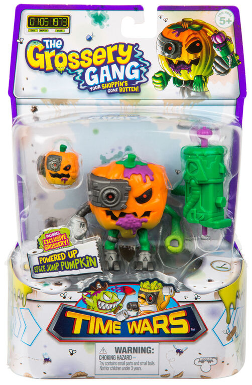 The Grossery Gang Time Wars Wave 2 Action Figure – Space Jump Pumpkin