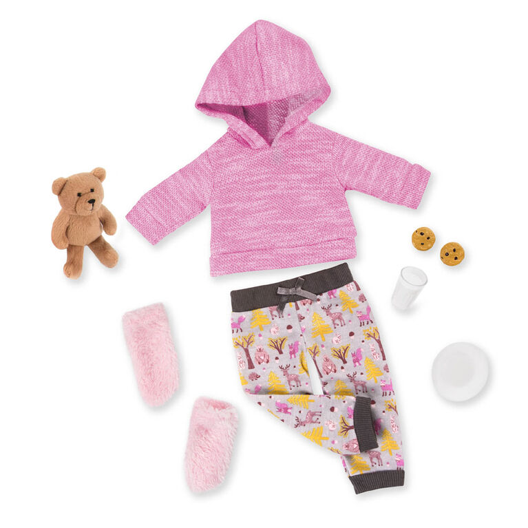 Our Generation, Bear Hugs, Pajama Outfit with Teddy Bear for 18-inch Dolls