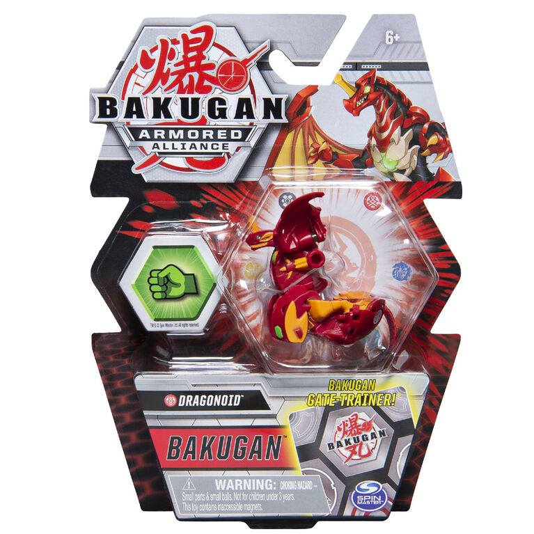 Bakugan, Dragonoid, 2-inch Tall Armored Alliance Collectible Action Figure and Trading Card