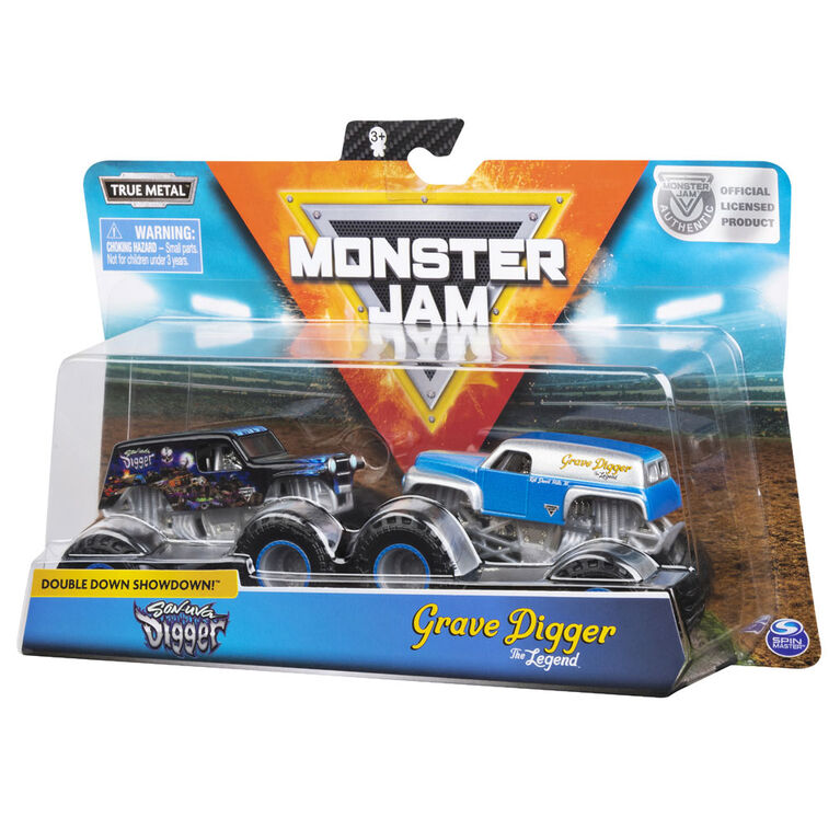 Official Monster Jam 1:64 scale die-cast monster truck two packs!
