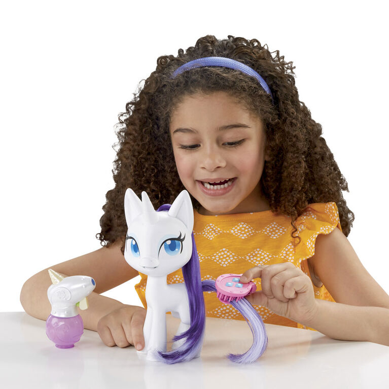 My Little Pony, Rarity Crinière magique, poney à coiffer de 16,5 cm - R Exclusif - R Exclusif