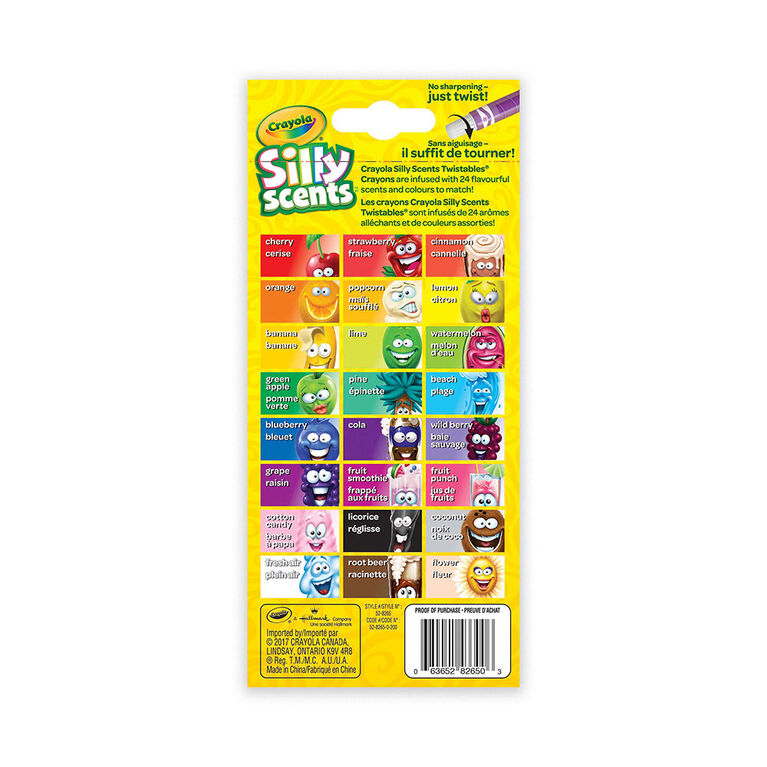 Crayola - 24 mini crayons Silly Scents TwistablesMC