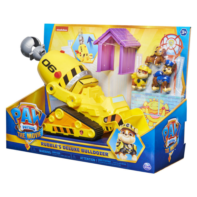 PAW Patrol, Rubble's Deluxe Bulldozer with 3 Action Figures - R Exclusive