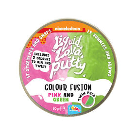 Nickelodeon - Pâte Liquid Lava Putty Colour Fusion - Pink and Green (rose et vert)