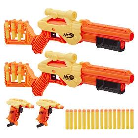 Ensemble multiple de 30 pièces avec blasters Lynx SD-1 et Stinger SD-1 Nerf Alpha Strike - Notre exclusivité