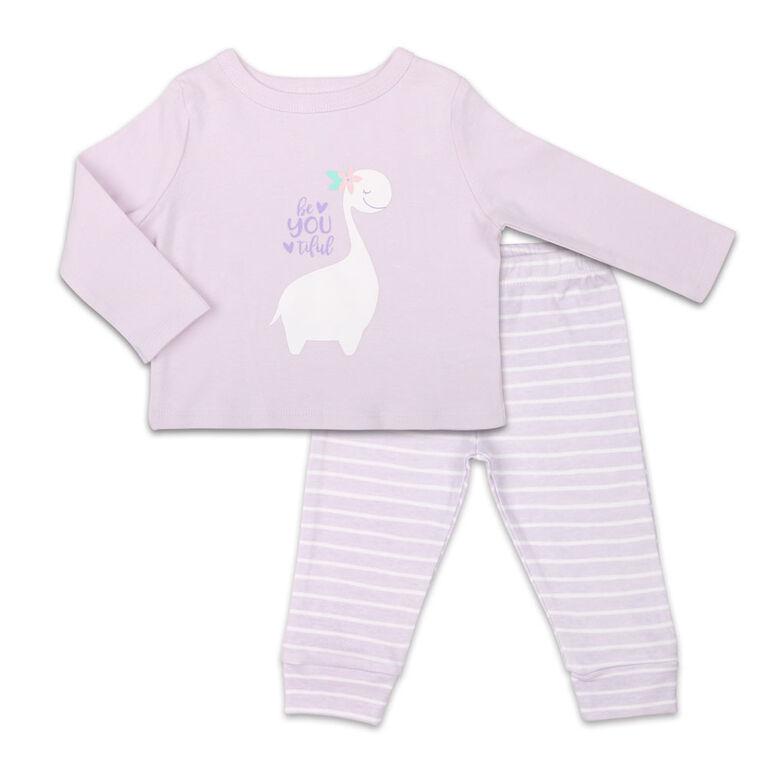 Ensemble combinaison à manches longues pour fille Koala Baby Dinomite avec pantalon, BeYOUtiful - 3-6 Mois