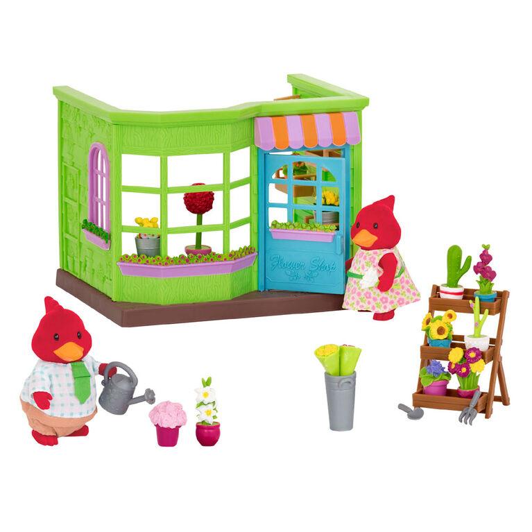 Li'L Petals Flower Shop, Li'l Woodzeez, Fleuriste avec accessoires - les motifs peuvent varier
