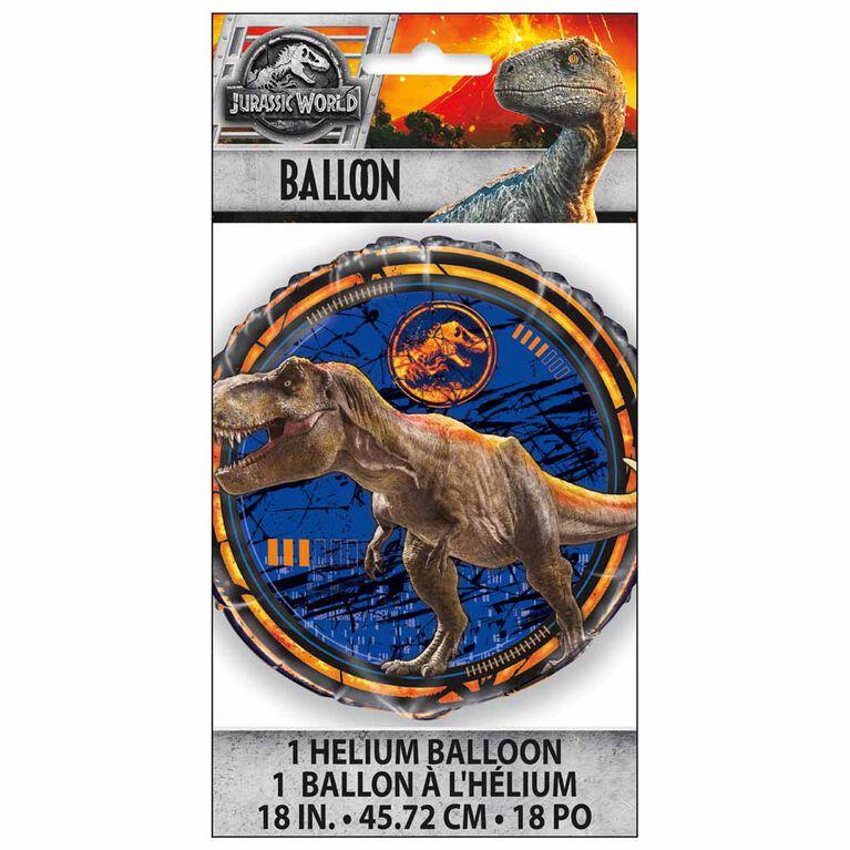 """Ballon aluminium rond, 18 """" - Jurassic World"""