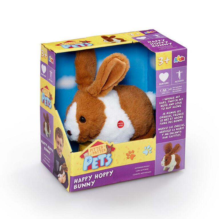 Pitter Patter Pets  - Happy Hoppy Bunny  - Marron et Blanc