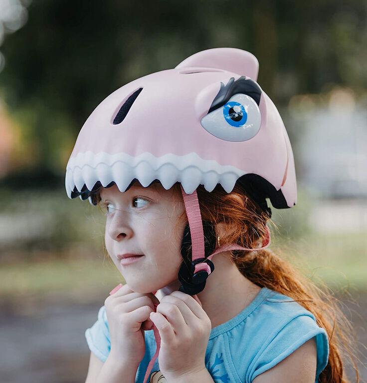 Animiles - Casque 3D Requin pour enfant - Rose, Taille unique, de 3 à 8 ans - Édition anglaise