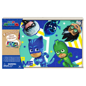 PJ Masks Jigsaw Puzzles for Kids, Set of 7 Wood Puzzles with Storage Box