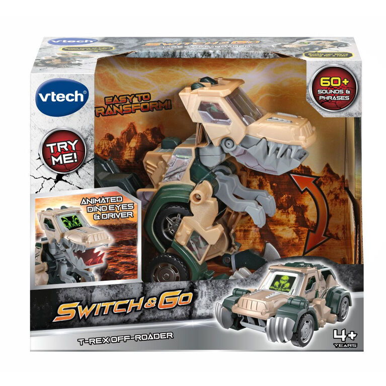 VTech Switch & Go T-Rex Off-Roader - English Edition