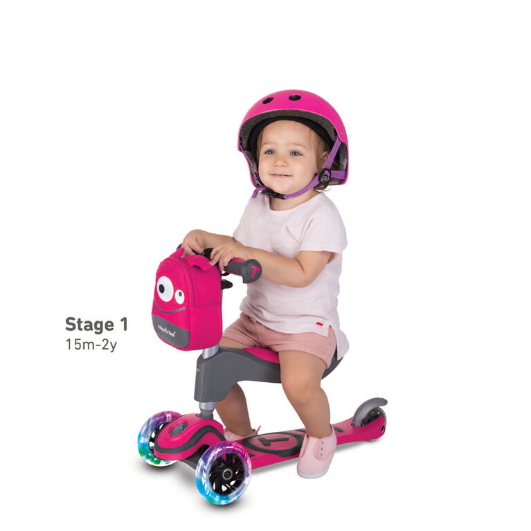 smarTrike - T1 scooTer - Pink with lights