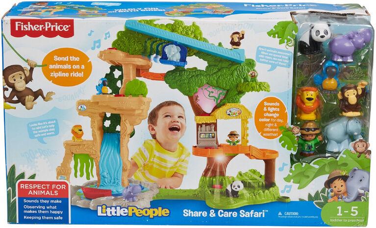 Fisher-Price Little People Share & Care Safari Playset - Bilingual Edition