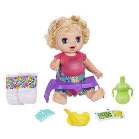Baby Alive Happy Hungry Baby Blond Curly Hair