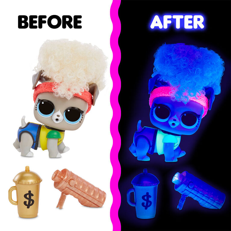 L.O.L. Surprise! Lights Pets with REAL Hair & 9 Surprises including Black Light Surprises - English Edition