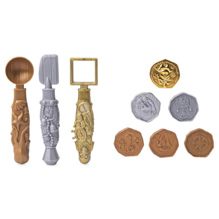 Kinetic Sand, Coffret Trésor enfoui avec 170 g de sable Kinetic Sand et un outil surprise caché (les styles peuvent varier)
