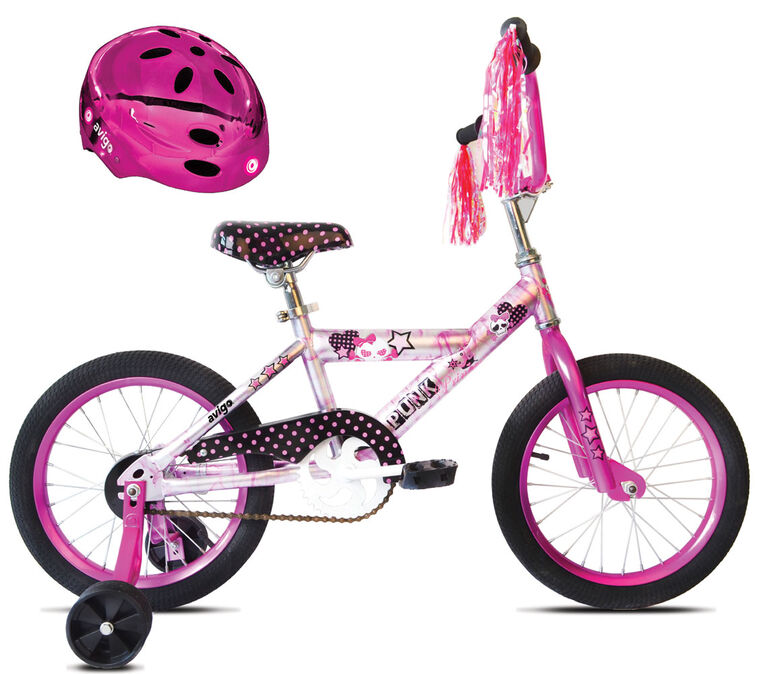 Avigo Punk Princess Pink Chrome Bike - 16 inch - R Exclusive