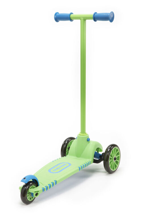 Little Tikes - Lean to Turn Scooter with Removable Handle – Green/Blue
