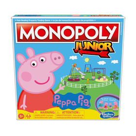 Monopoly Junior: Peppa Pig Edition Board Game for 2-4 Players, Indoor Game