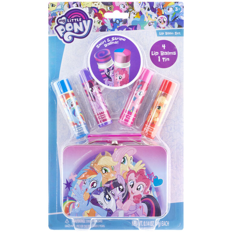 My Little Pony 4 Pack Lip Balm With Tin