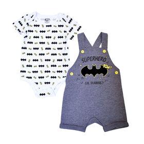 Warner's Batman ensemble Salopette courte 2 morceaux - gris, 9 mois