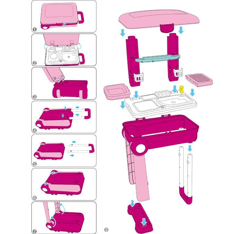 Toy Chef 2-In-1 Children's Portable Toy Kitchen Set