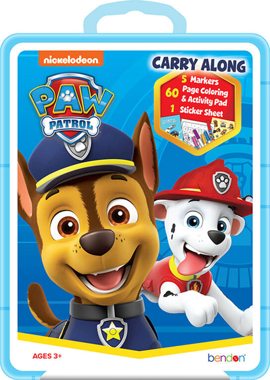 Paw Patrol Carry Along Plastic Case - English Edition