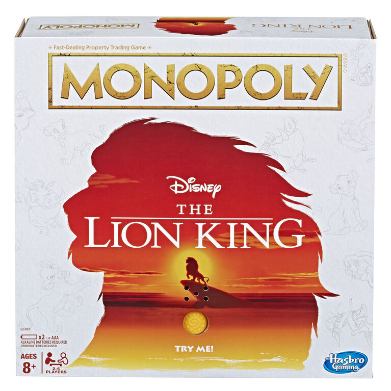 Monopoly Game Disney The Lion King Edition