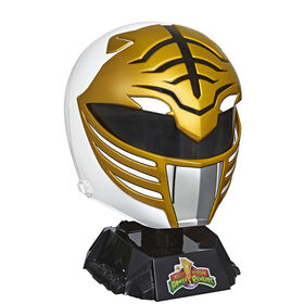 Power Rangers Lightning Collection Casque de collection premium Ranger blanc Mighty Morphin pleine grandeur